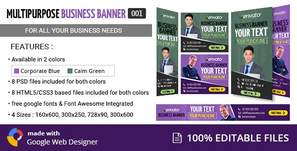Multipurpose Business Banner 001 - CodeCanyon Item for Sale