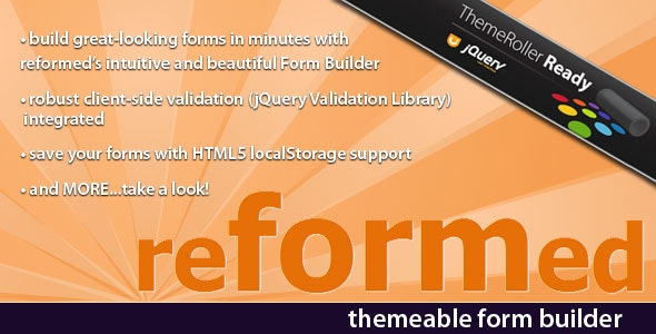 reformed -- Themeable Form Builder - CodeCanyon Item for Sale