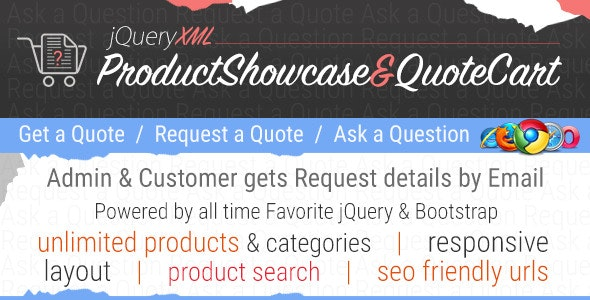JQuery XML Product Showcase & Quote Cart - CodeCanyon Item for Sale