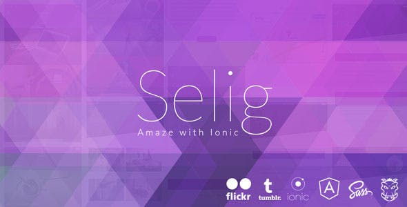 Selig - Ionic Ios/Android app with tumblr API