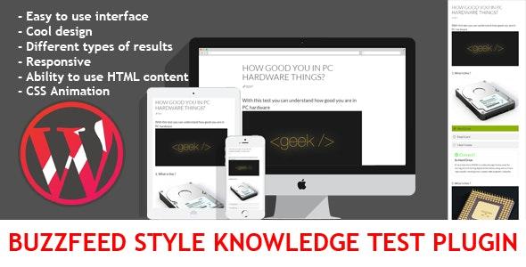 Wordpress BuzzFeed Style Knowledge Test Plugin - CodeCanyon Item for Sale