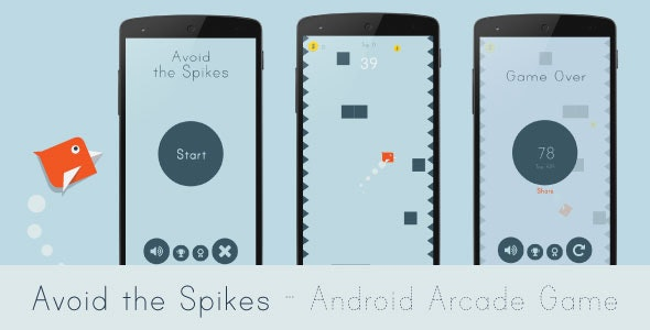 Avoid the Spikes - Android Arcade Game - CodeCanyon Item for Sale