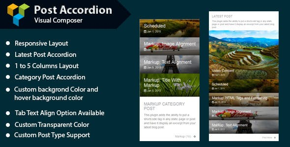 WPBakery Page Builder - Post Accordion (formerly Visual Composer)