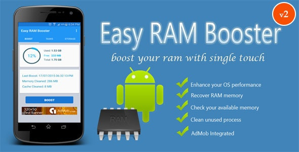 Easy RAM Booster - CodeCanyon Item for Sale