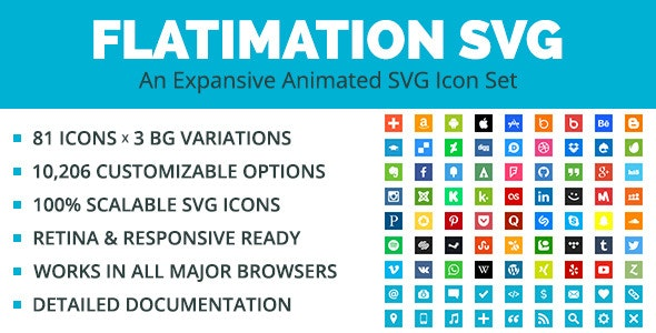 Flatimation SVG - An Animated SVG Icon Set - CodeCanyon Item for Sale