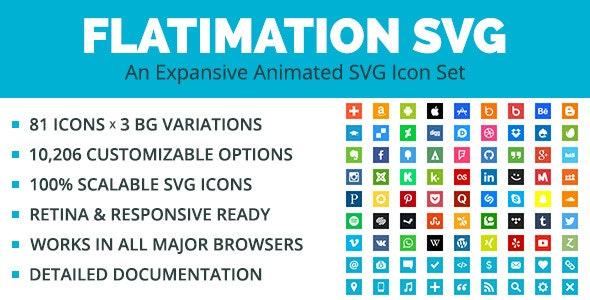 Flatimation SVG - An Animated SVG Icon Set by GarettCreative