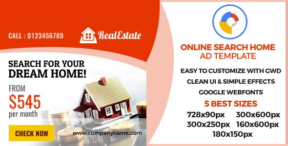Real Estate - GWD Ad Banner - CodeCanyon Item for Sale