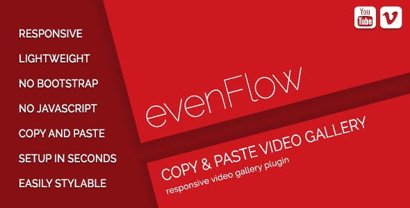 evenFlow - YouTube & Vimeo Video Gallery