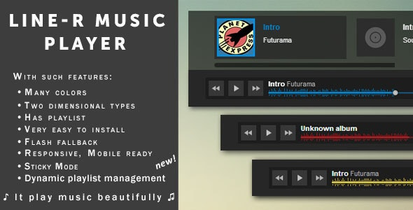 Sticky Music Player for music shops & sites — «Line-R» - CodeCanyon Item for Sale