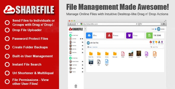 Sharefile - File Sharing + Document Manager - CodeCanyon Item for Sale
