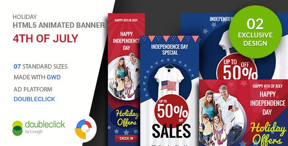 4th of July | Google Ad HTML Banner - CodeCanyon Item for Sale