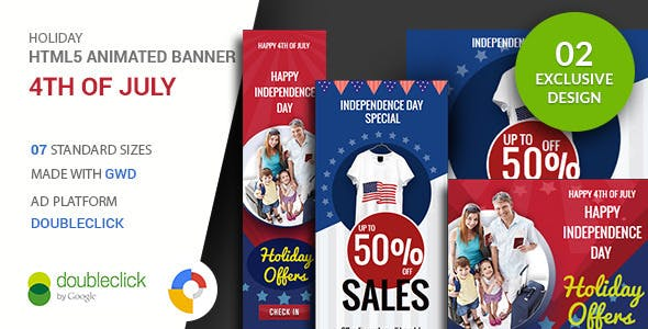 4th of July | Google Ad HTML Banner