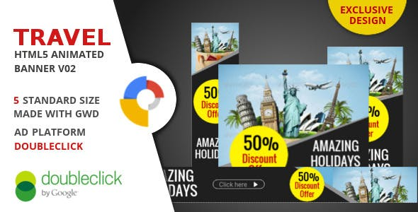 Travel - Google Html Animated Banner 02