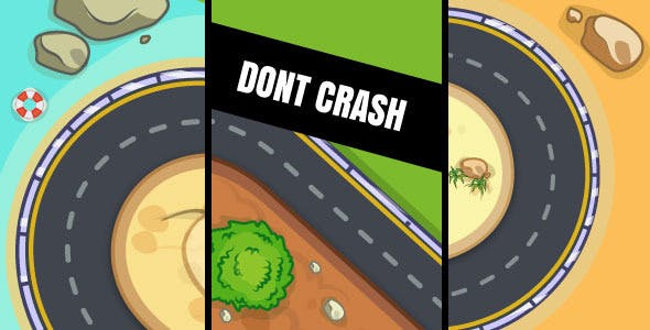 Dont Crash - HTML5 Game (Construct 2 & Construct 3)