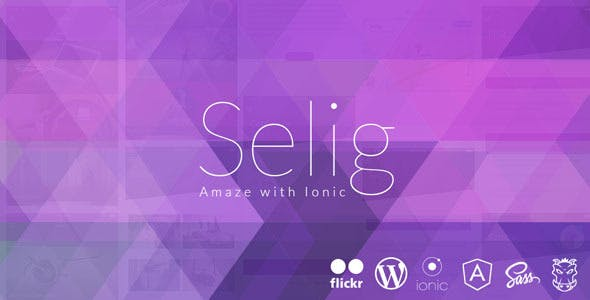 Selig - Ionic Ios/Android app with wordpress API