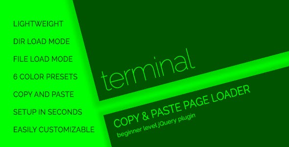 terminal - Console Style Page Loader / Preloader