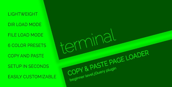 terminal - Console Style Page Loader / Preloader - CodeCanyon Item for Sale