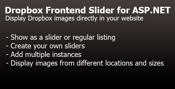 Dropbox Frontend Slider for ASP.NET - CodeCanyon Item for Sale