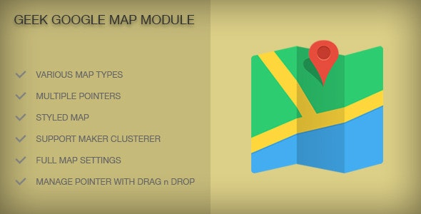 Geek Google Map Module - CodeCanyon Item for Sale