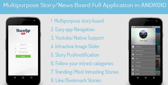 MultiPurpose News/Story/Portfolio for Android