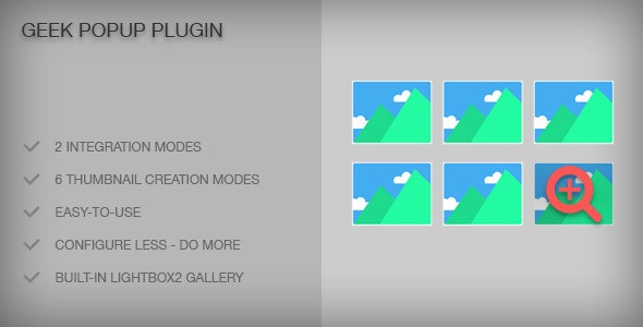 Geek Popup Plugin - CodeCanyon Item for Sale
