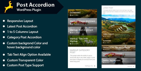 Post Accordion for WordPress - CodeCanyon Item for Sale