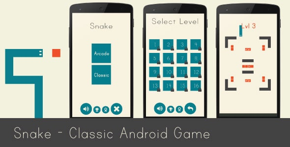 Snake - Classic Android Game by neurondigital | CodeCanyon