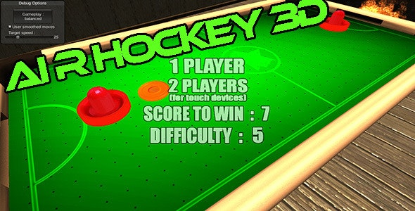 Air Hockey 3D Game:Multiplayer - CodeCanyon Item for Sale