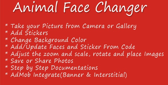 Animal Face Changer - CodeCanyon Item for Sale