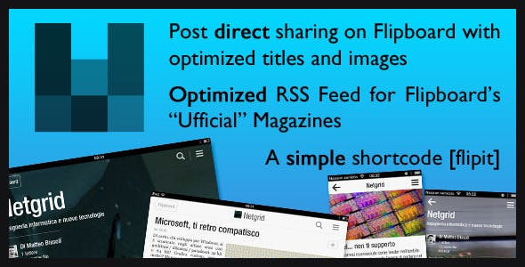 Flipboard RSS Feed + Shortcode