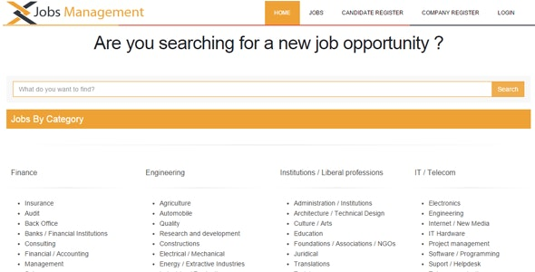 Jobs Management - CodeCanyon Item for Sale