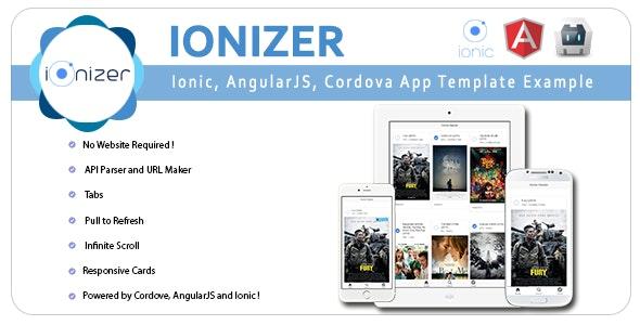 Ionizer - Ionic, AngularJS & Cordova App Template & Example - CodeCanyon Item for Sale