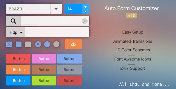 Auto Form Customizer - CodeCanyon Item for Sale