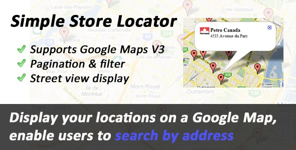Simple Store Locator - CodeCanyon Item for Sale