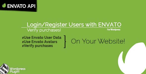 WP Envato Login - CodeCanyon Item for Sale