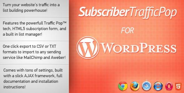 Subscriber Traffic Pop for WordPress