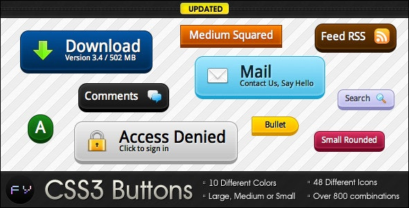 CSS3 Buttons - Simple and Awesome - CodeCanyon Item for Sale