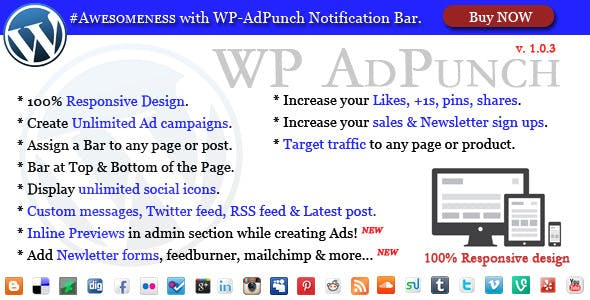 WP-AdPunch - #Awesome Notification Bars