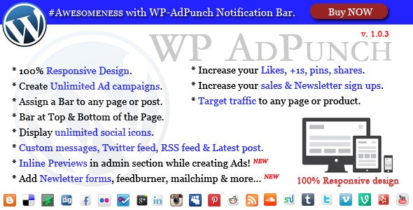 WP-AdPunch - #Awesome Notification Bars - CodeCanyon Item for Sale