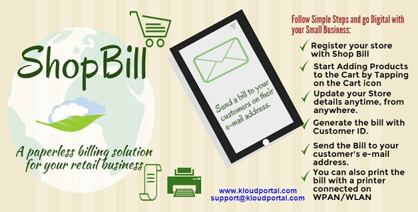 Quick Bill - Store Billing Solution in your pocket - CodeCanyon Item for Sale