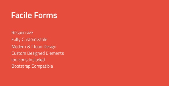 Facile Forms — Responsive & Multipurpose CSS Forms - CodeCanyon Item for Sale