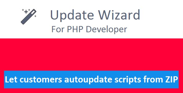 Update Wizard for PHP Developers with Changelog