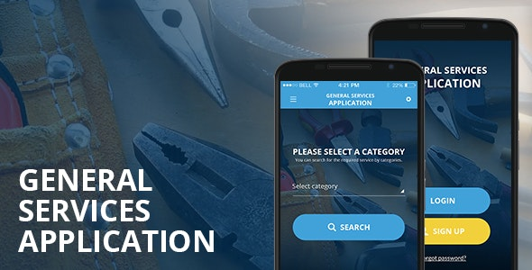 General Services Application - Android - CodeCanyon Item for Sale