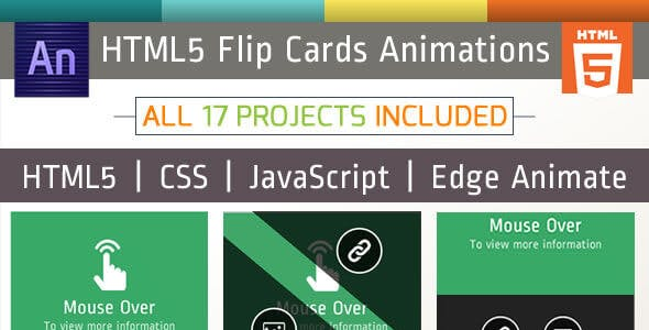 17 Animated Flip Cards Package