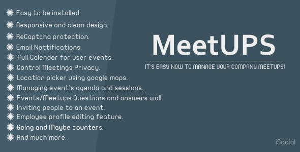 Meetups - Company meetups manager