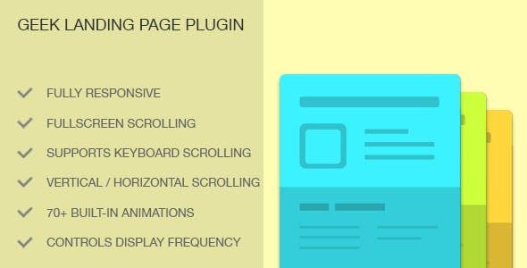Geek Landing Page Plugin