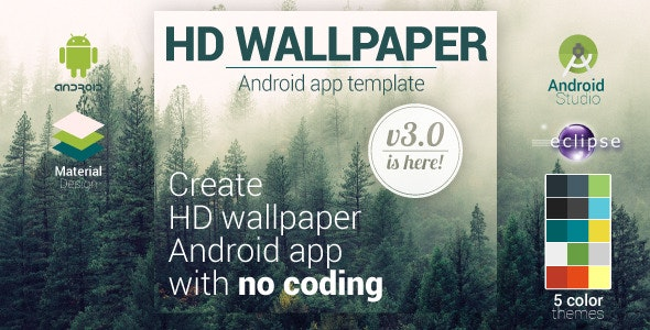 HD Wallpaper Android Template App - CodeCanyon Item for Sale
