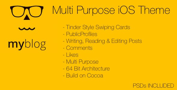 MyBlog Multi Purpose iOS Theme