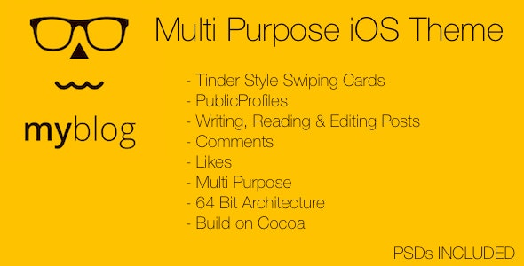 MyBlog Multi Purpose iOS Theme - CodeCanyon Item for Sale