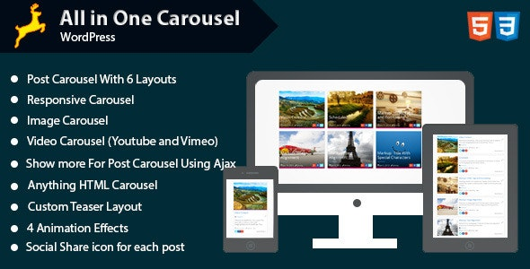 All in One Carousel for WordPress - CodeCanyon Item for Sale